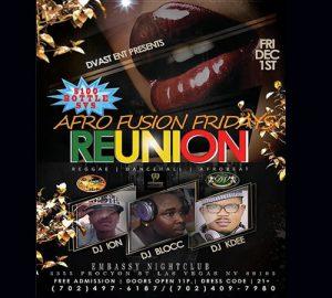 Afro Fusion Fridays Reunion